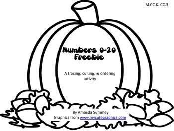 MCC.K.CC.3 - Fall Activity: Pumpkin Numbers 0-20