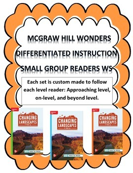 MCGRAW HILL WONDERS Unit 1, Week 3 Gr. 4 Small Group Reade