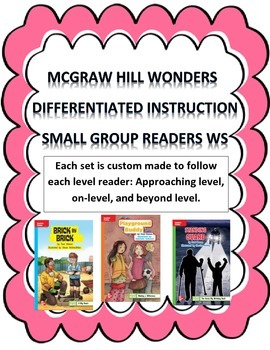 MCGRAW HILL WONDERS Unit 3, Week 2 Gr. 4 Small Group Reade