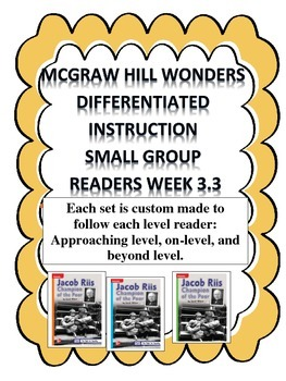 MCGRAW HILL WONDERS Unit 3, Week 3 Gr. 4 Small Group Reade