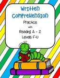 Written Comprehension Practice- Complete Set F-U