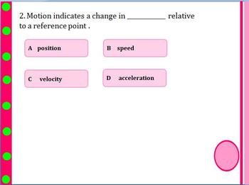 MCQ on speed, velocity and acceleration