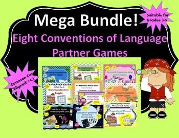 MEGA BUNDLE! 8 Conventions of Language Partner Games (Comm