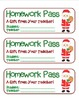 MEGA BUNDLE – 22 Different Winter Holiday Homework Pass Co