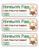 MEGA BUNDLE – 22 Holiday Homework Pass Collection! (black