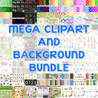MEGA Clipart and Background Bundle #springbackin