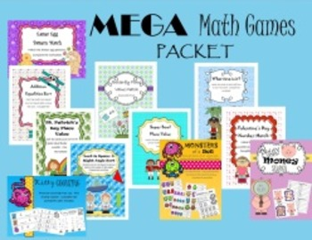 Math Games and Centers Packet