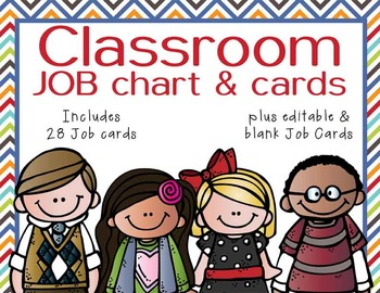 the BRAINY BUNCH - Classroom Helpers JOBS clip chart