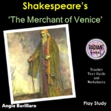 MERCHANT OF VENICE- Teacher Text Guides & Worksheets