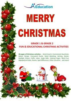 MERRY CHRISTMAS Grade 1 & Grade 2 Fun & Educational Christ