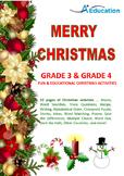 MERRY CHRISTMAS Grade 3 & Grade 4 Fun & Educational Christ