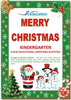 MERRY CHRISTMAS Kindergarten Fun & Educational Christmas A