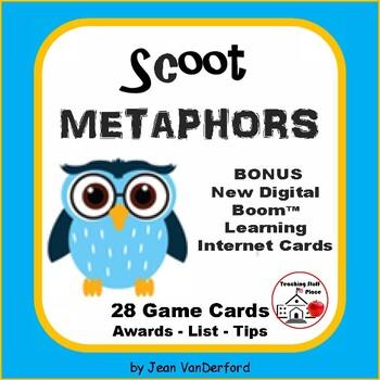 METAPHORS | Figurative Language | TASK CARDS | SCOOT GAME