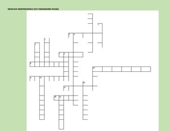 MEXICAN INDEPENDENCE DAY CROSSWORD: FUN!