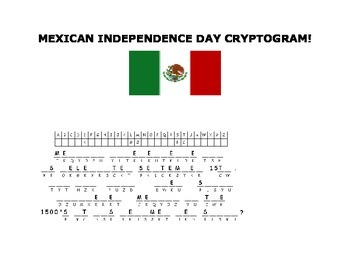 MEXICAN INDEPENDENCE DAY CRYPTOGRAM-GRADES 6-12