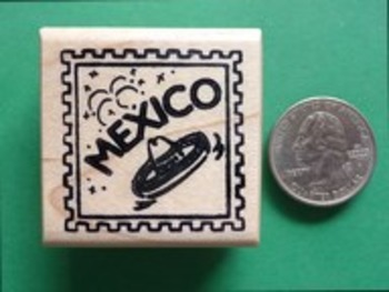 MEXICO Country/Passport Rubber Stamp