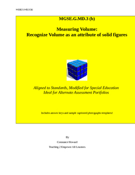 MGSE.5.MD.3 (b) Measuring and Recognizing Volume