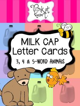 MILK CAP Letter Cards - Animals