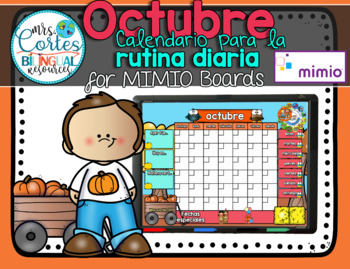 MIMIO Calendar Math- Octubre FALL VERSION (Spanish)
