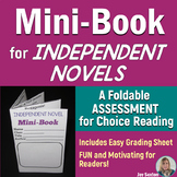 MINI-BOOK FOLDABLE for Independent Novels - Grades 5-6-7-8