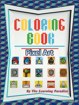 MINI COLORING BOOK- Pixel Art- Color by Number