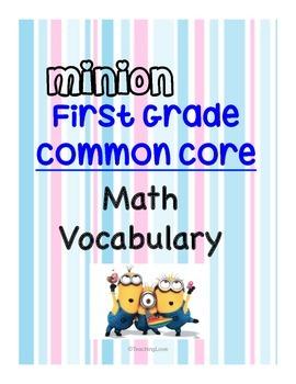 MINION Common Core First Grade Vocabulary