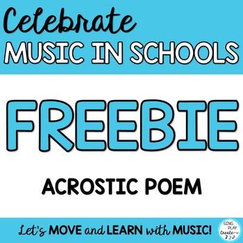Freebie: Music Class MIOSM writing poster