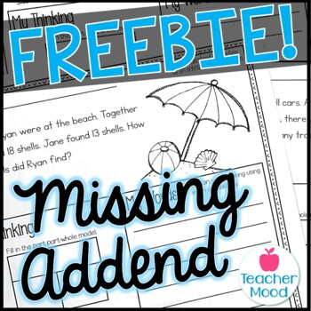 {MISSING ADDEND} Differentiated Word Problems {100 FOLLOWE