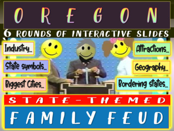 OREGON FAMILY FEUD! Engaging game about cities, geography,