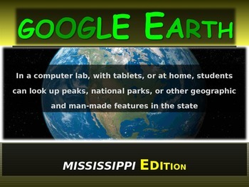 """MISSISSIPPI"" GOOGLE EARTH Engaging Geography Assignment ("
