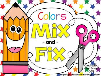 MIX & FIX Color Word Mini-Book - CCSS Aligned