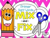 MIX & FIX Sight Word Mini-Book - Dolch Primer CCSS Aligned