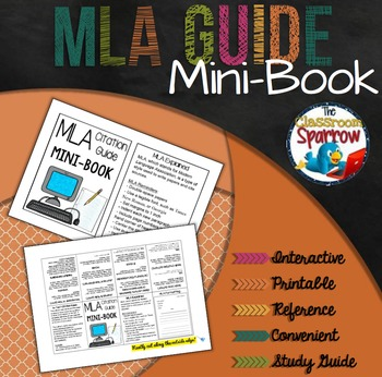 MLA Citation Guide Mini-Book (A Perfect Addition to an ELA