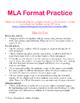 MLA Format Practice Activity