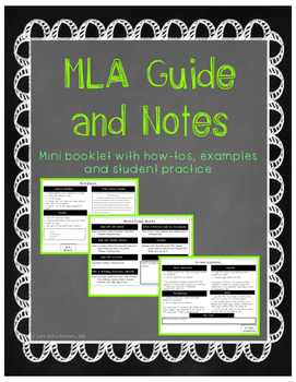 MLA Guide and Notes
