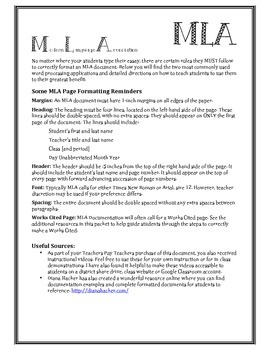 MLA Page Formatting Guide - Google Docs and Word (with videos!)