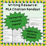 MLA citation handout