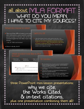 MLA format - why we cite, Works Cited and in-text citations