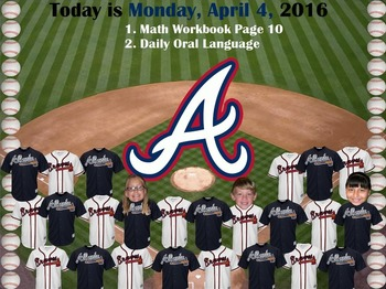 MLB Atlanta Braves Baseball Morning Attendance Flipchart