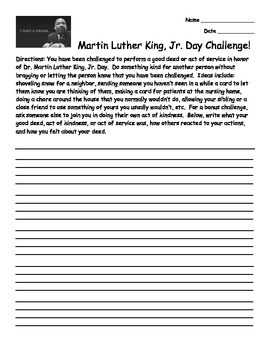 MLK Day Challenge