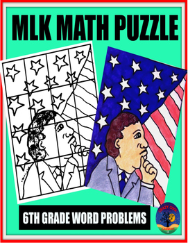 MLK MATH PUZZLE: FRACTIONS WORD PROBLEMS