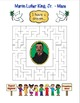 MLK Martin Luther King, Jr. Word Search Maze! Easy Level!