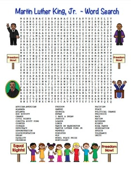 MLK Martin Luther King, Jr. Word Search Maze! Hard Level!