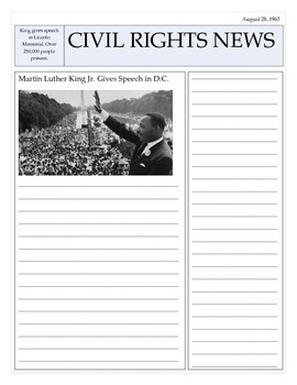 MLK Newspaper Article Template