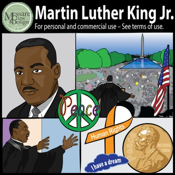 MLK-Martin Luther King Jr. & Civil Rights Clip Art {Messar