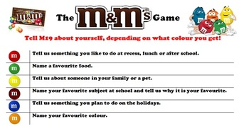 M&M Getting to know you game!