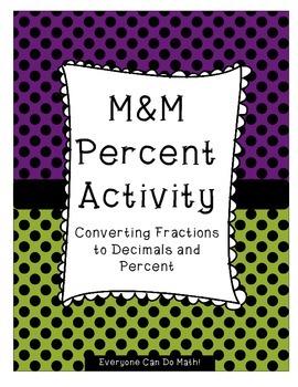 M&M Fraction Decimal Percent Activity