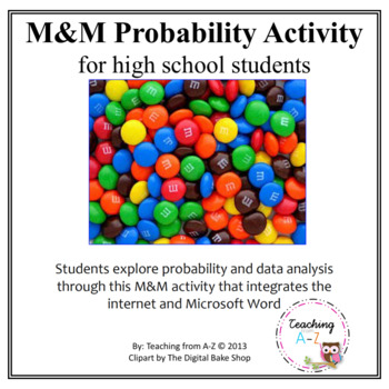 M&M Probability Web Project for High School Students