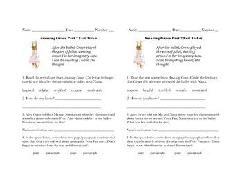 MMH Treasures Story Amazing Grace Exit Ticket Part 2