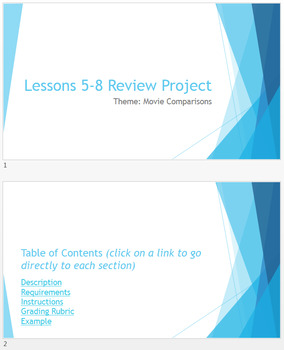 MOAC PowerPoint 2013 Lessons 5-8 Review Project: Movie Com